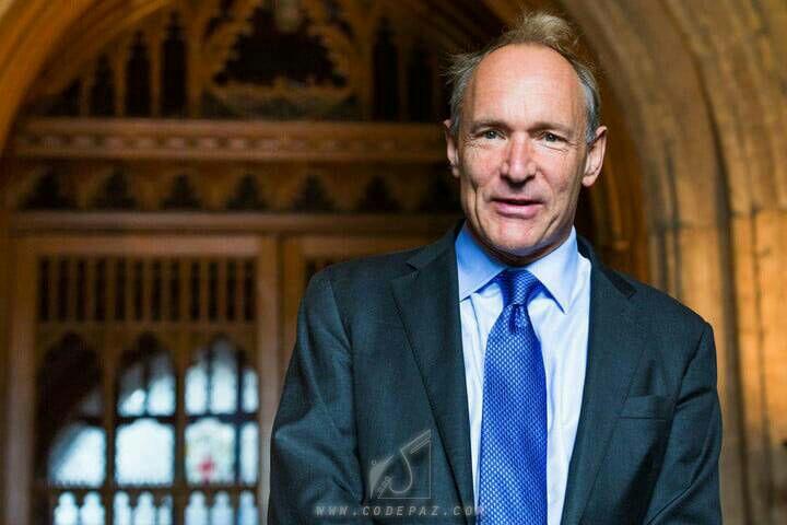 آقای تیم برنرز - لی (Tim Berners-Lee) مخترع html
