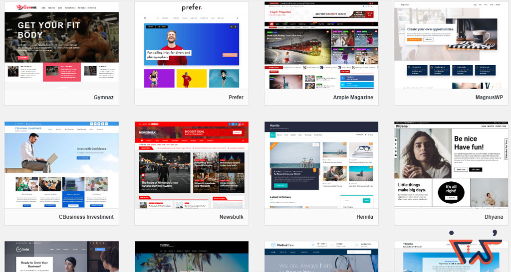 انواع سایت های مختلف وردپرس