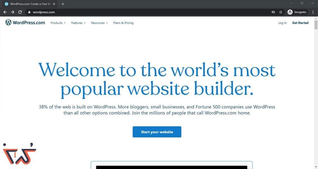سایت wordpress.com