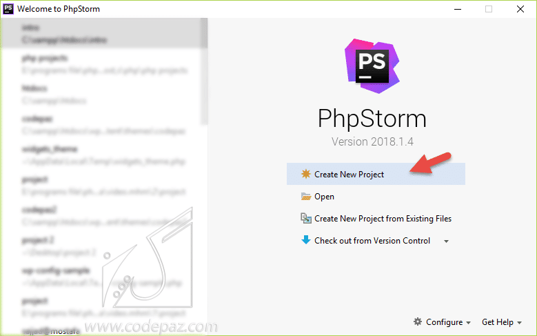 جلسه اول Php pic create project