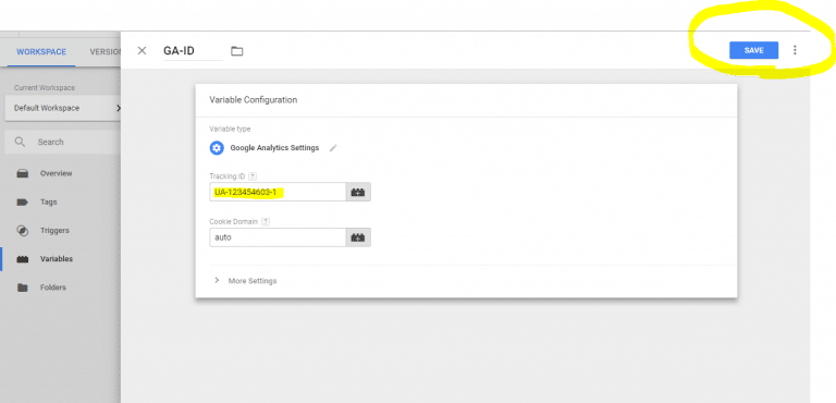 اضافه کردن Tracking ID آنالیتیکس به تگ منیجر