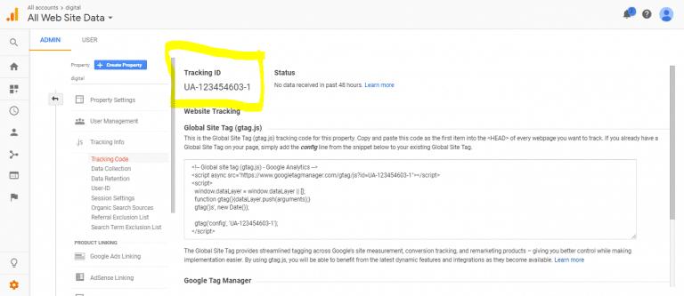 Tracking Code در گوگل آنالیز
